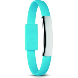 Armband met micro USB Cablet Turquoise