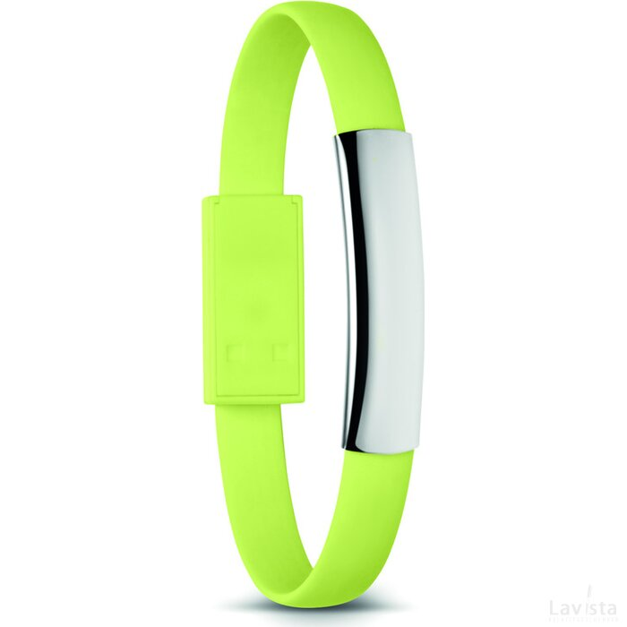 Armband met micro USB Cablet Lime groen