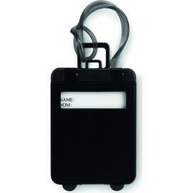Kunststof bagagelabel Traveller Zwart