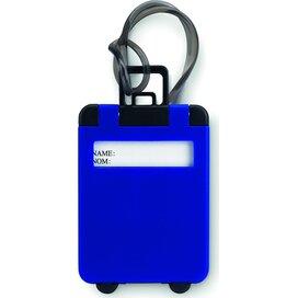 Kunststof bagagelabel Traveller (Kobalt) blauw