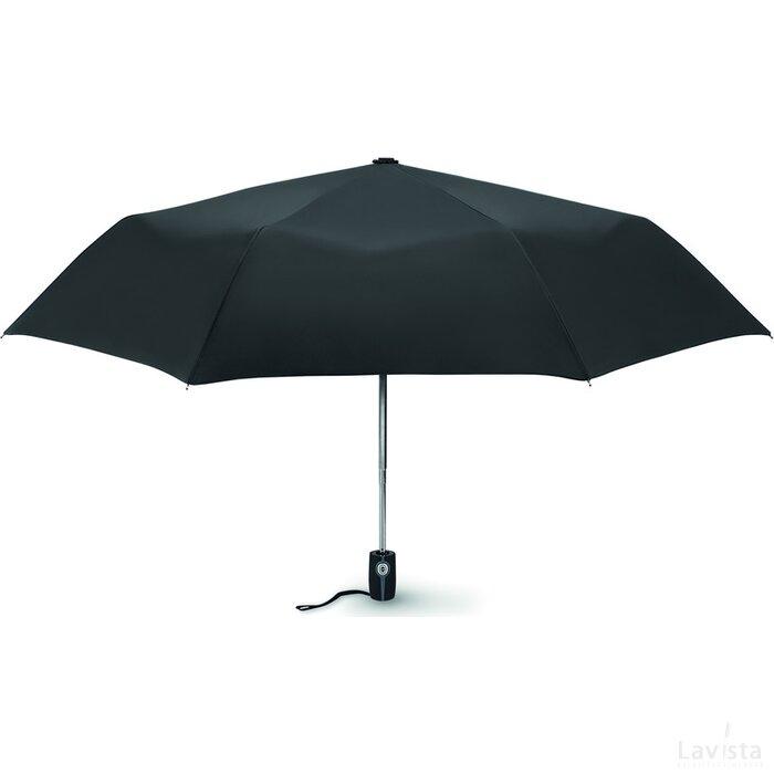 "Windbestendige paraplu, 21"" Gentlemen zwart"