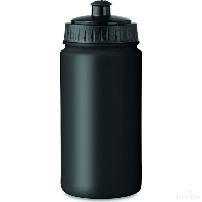 Kunststof drinkfles Spot Five Zwart