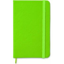 A6 notitieboekje, gelinieerd NOTELUX Lime groen