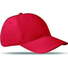 Katoenen baseball cap Basie Rood