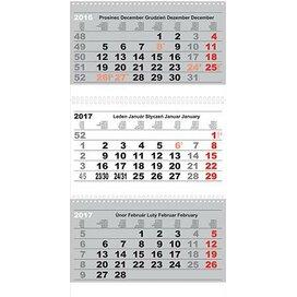 3-month Folding Calendar With Spiral 2017