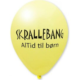 Ballon 75/85 cm lichtgeel