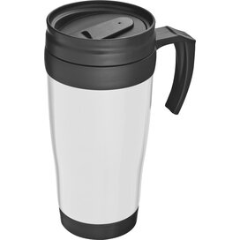 Kunststof drinkbeker met afsluitbare deksel- 0,4L Sandau wit
