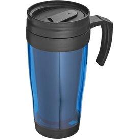 Kunststof drinkbeker met afsluitbare deksel- 0,4L Sandau blauw