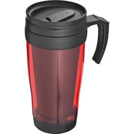 Kunststof drinkbeker met afsluitbare deksel- 0,4L Sandau rood