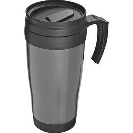Kunststof drinkbeker met afsluitbare deksel- 0,4L Sandau grijs