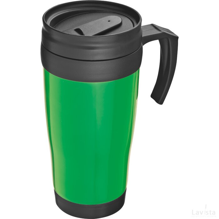 Kunststof drinkbeker met afsluitbare deksel- 0,4L Sandau groen