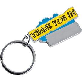 Sleutelhanger Thank you lichtblauw