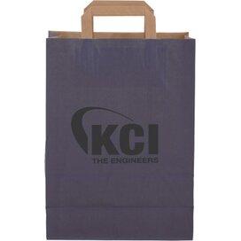 Papieren tas met plat hengsel 220 x 280 x 100 mm. donkerblauw