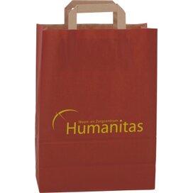 Papieren tas met plat hengsel 260 x 360 x 120 mm. rood