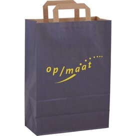 Papieren tas met plat hengsel 320 x 430 x 150 mm. donkerblauw