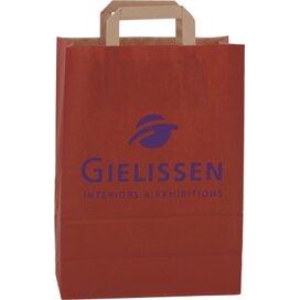 Papieren tas met plat hengsel 320 x 430 x 150 mm. rood