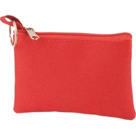 Sleuteltasje met rits polyester 600D rood