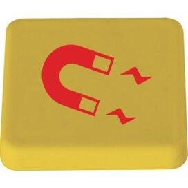Magneet 40 x 40 mm. TAMPONDRUK geel