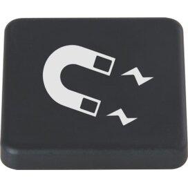 Magneet 40 x 40 mm. TAMPONDRUK zwart