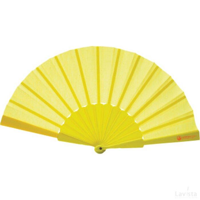 Handwaaier geel