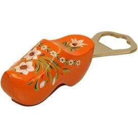Flesopener klomp Oranje met Bloemmotief