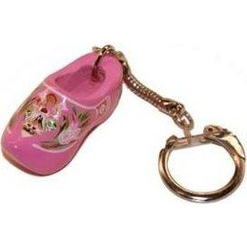 Sleutelhanger met een klompje Roze