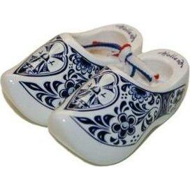 Souvenirklompje 14 cm Wit Delfts-blauw