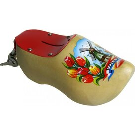 Spaarpot klomp 14 cm Tulp gelakt