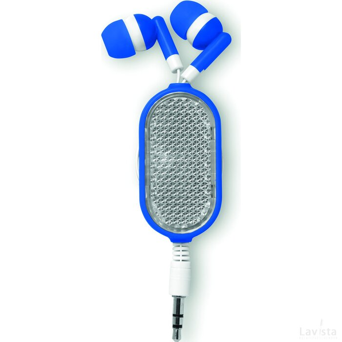 Oortelefoon met reflector Coloursound (Kobalt) blauw