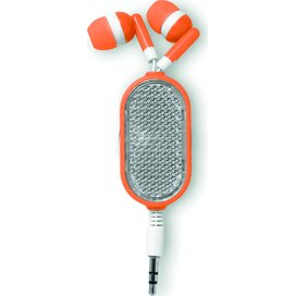 Oortelefoon met reflector Coloursound Oranje