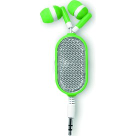 Oortelefoon met reflector Coloursound Lime groen
