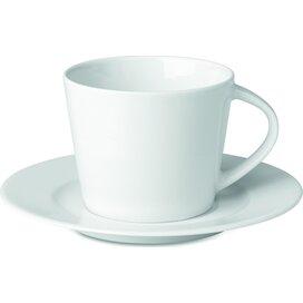 Cappuccino kop en schotel Paris wit
