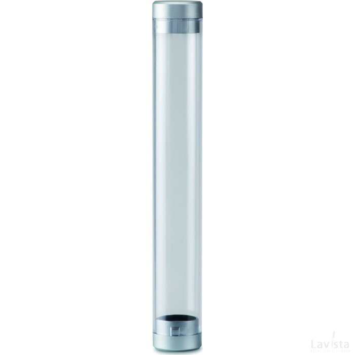 Transparante koker Tube zilver