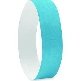 1 Vel met 10 event armbandjes  Tyvek Turquoise