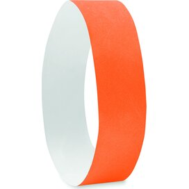 1 Vel met 10 event armbandjes  Tyvek Oranje