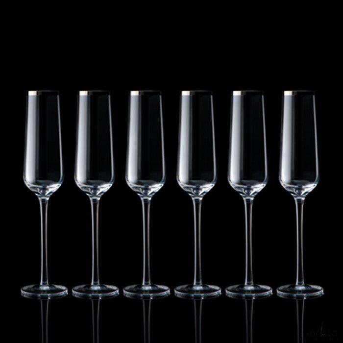 Set 6 champagneglazen Nahe transparant