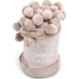 Pom Pom Plaid Solid Beige