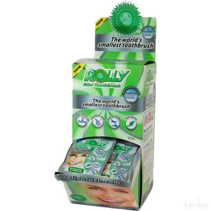 Rolly Brush Dispenser met 50 zakjes.