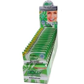 Rolly Brush Dispenser met 15 six packs Mint