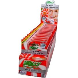 Rolly Brush Dispenser met 15 six packs Peach