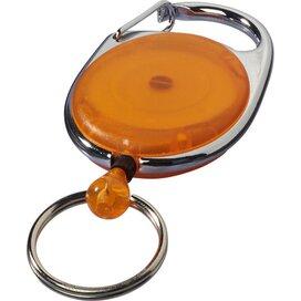 Gerlos sleutelhanger en rollerclip Oranje