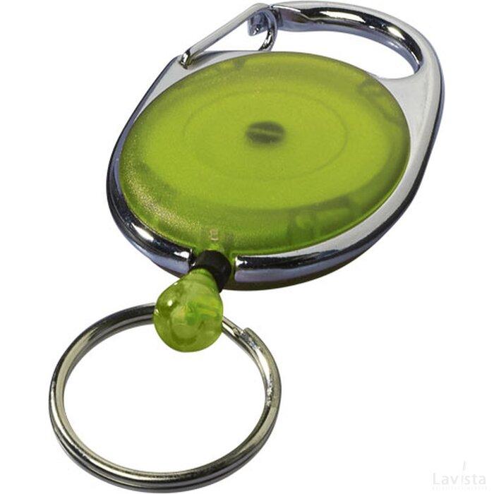 Gerlos sleutelhanger en rollerclip Lime