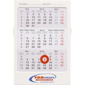 3 maands bureau kalender - 3 maands bureau kalender 102 x 150 x 8 mm met uw eigen logo. handig voor uw planning.