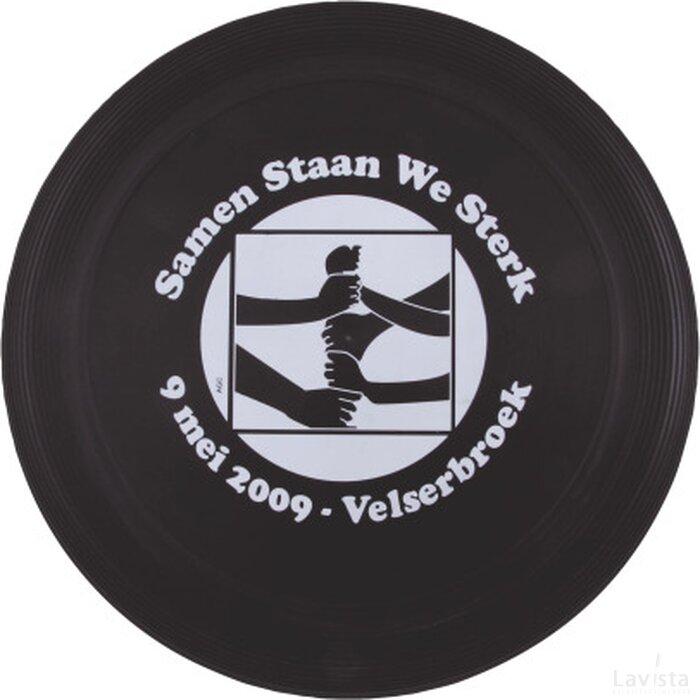 Frisbee 21 cm. met ringen Zwart