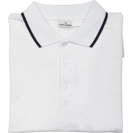 Collier André Philippe Poloshirt Wit