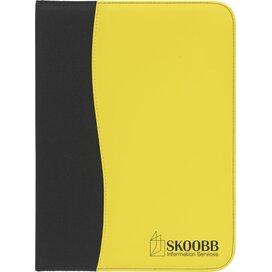 Perugia Schrijfmap Zwart/geel
