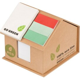 Eco huis met notitieblok