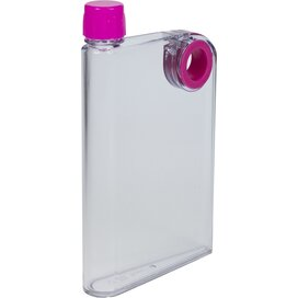 Platte waterfles A5 formaat 380 ml roze