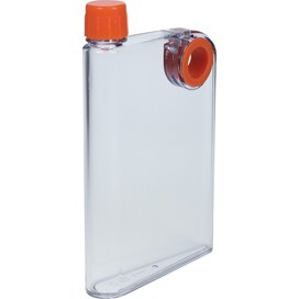 Platte waterfles A5 formaat 380 ml oranje