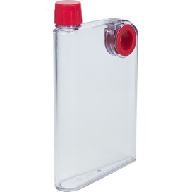Platte waterfles A5 formaat 380 ml rood